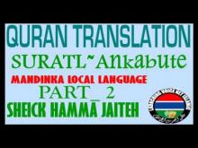 Embedded thumbnail for Sheick Hamma suratul ankabute Part 2of 3